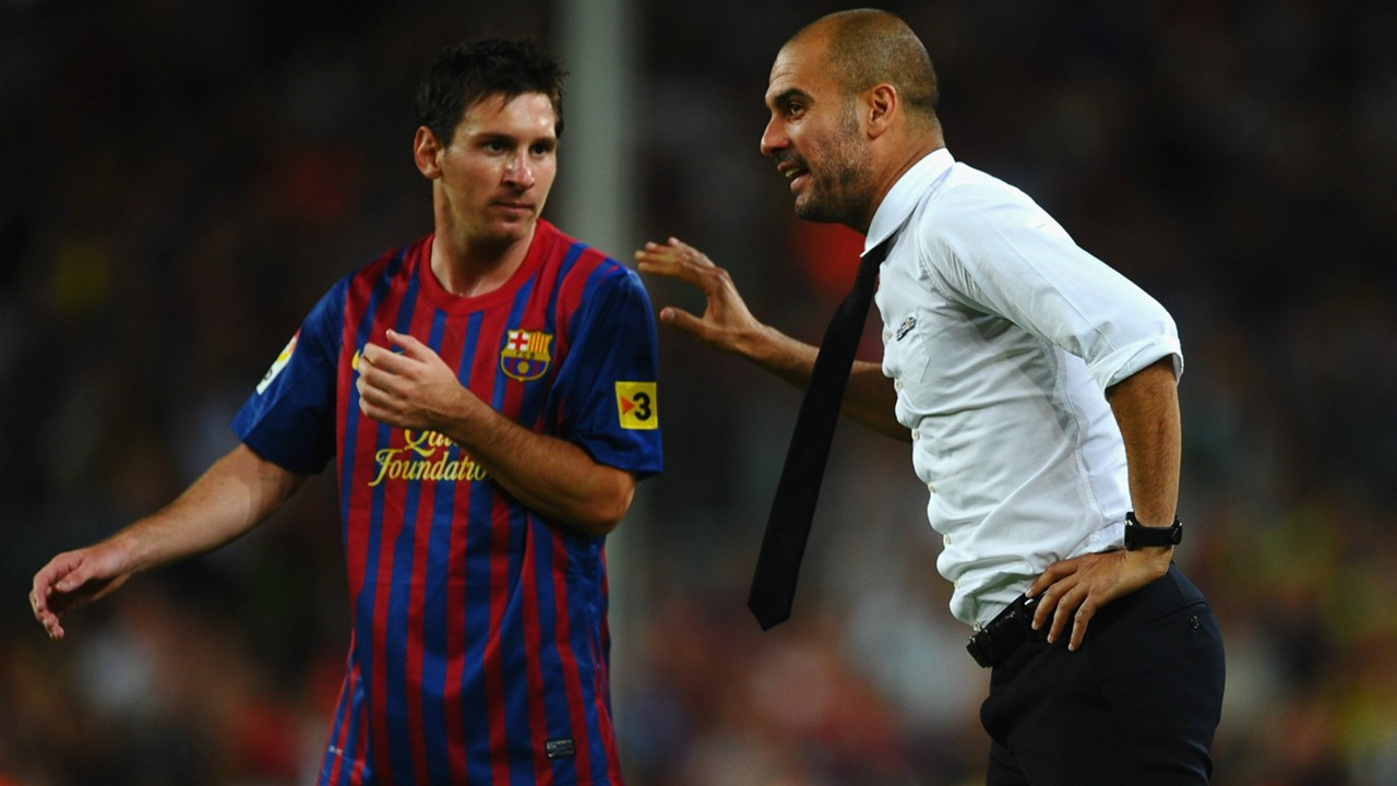 Image result for pep guardiola love messi