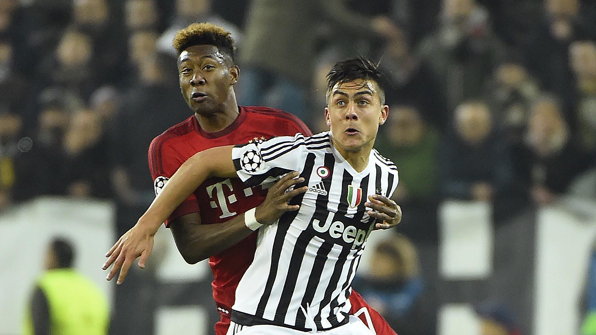 David Alaba Paulo Dybala FC Bayern Juventus Turin 02232016
