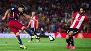 Luis Suarez FC Barcelona Eneko Boveda Atheltic Bilbao Supercopa 08172015