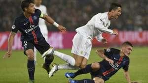 Cristiano Ronaldo Thiago Silva Marco Verratti Paaris St. Germain PSG Real Madrid Champions League German 21102015