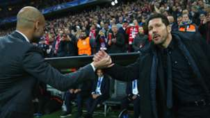 PEP GUARDIOLA BAYERN MUNICH DIEGO SIMEONE ATLETICO MADRID CHAMPIONS LEAGUE 03052016