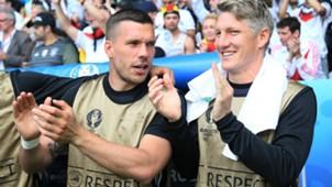 ONLY GERMANY Bastian Schweinsteiger Lukas Podolski Germany European Championship 26062016