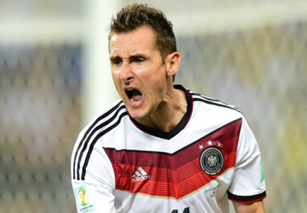 Miroslav Klose Germany Ghana World Cup 2014 Group G 06212014