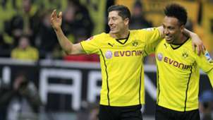 ONLY GERMANY Robert Lewandowski Pierre Emerick Aubameyang Dortmund 03012014