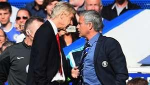 Arsene Wenger Jose Mourinho Arsenal Chelsea Premier League 05102014