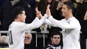 CRISTIANO RONALDO JAMES RODRIGUEZ REAL MADRID UEFA CHAMPIONS LEAGUE 08032016