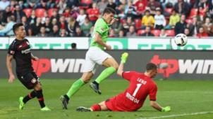 Mario Gomez Bernd Leno VfL Wolfsburg Bayer Leverkusen
