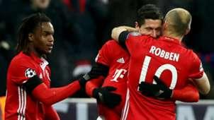 RENATO SANCHES ROBERT LEWANDOWSKI ARJEN ROBBEN BAYERN MUNCHEN ATLETICO MADRID UEFA CHAMPIONS LEAGUE 06122016
