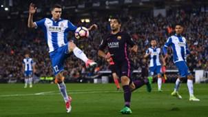 Espanyol gegen Barcelona, Suarez, 29042017