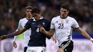 Raphael Varane Mario Gomez France Germany International Friendly 13112015