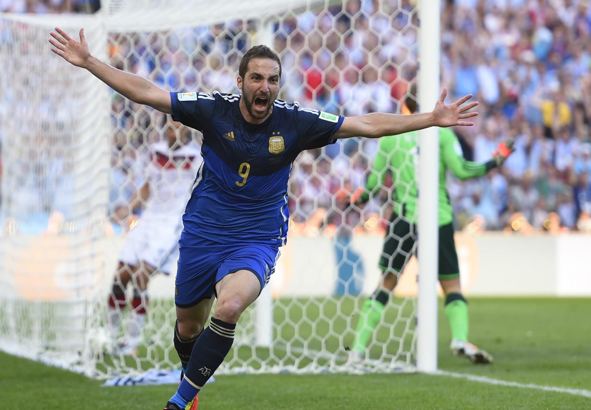 GONZALO HIGUAIN ARGENTINA 2014 WORLD CUP FINAL 07132014