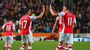 Alexis Sanchez Mesut Özil Arsenal Hull City Premier League 05042015