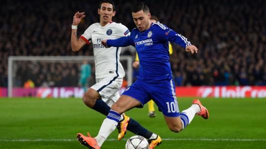 Angel Di Maria PSG Eden Hazard FC Chelsea Champions League 09032016