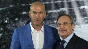 Zinedine Zidane Florentino Perez Real Madrid 04012016