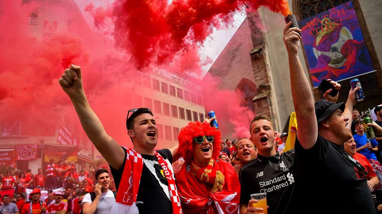 FC Liverpool Fans Basel UEFA Europa League 18052016