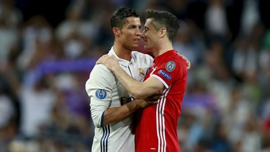 Cristiano Ronaldo Robert Lewandowski Real Madrid Bayern