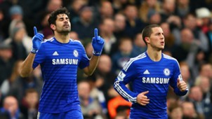 Diego Costa Eden Hazard Chelsea 12262014