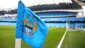 Manchester City Hull City Corner Flag Premier League 07022015