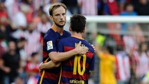 Ivan Rakitic Lionel Messi Barcelona 08232015