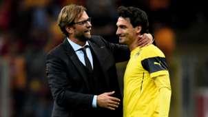 Jurgen Klopp Mats Hummels Borussia Dortmund Champions League 10222014