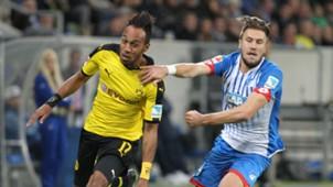 Pierre-Emerick Aubameyag Ermin Bicakcic Borussia Dortmund 1899 Hoffenheim Bundesliga 23092015