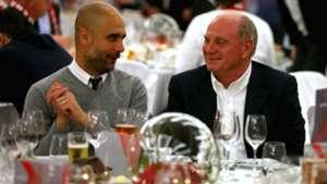 Pep Guardiola Uli Hoeness FC Bayern 13042016