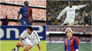 COLLAGE FC BARCELONA REAL MADRID