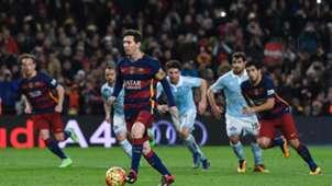 Lionel Messi Luis Suarez Barcelona Celta Vigo Elfmeter Penalty 14022016