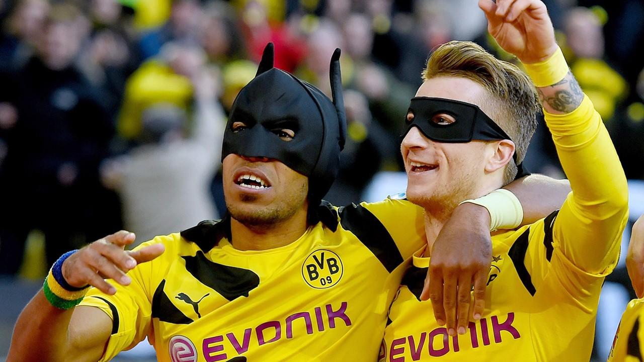 Borussia Dortmund v FC Schalke 04 Bundesliga Marco Reus Pierre-Emerick Aubameyang 02282015