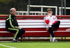 Vicente del Bosque Iker Casillas Spain Training 2014 World Cup 06122014