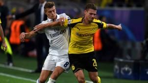 Toni Kroos Lukasz Piszczek Borussia Dortmund Real Madrid Champions League 27092016