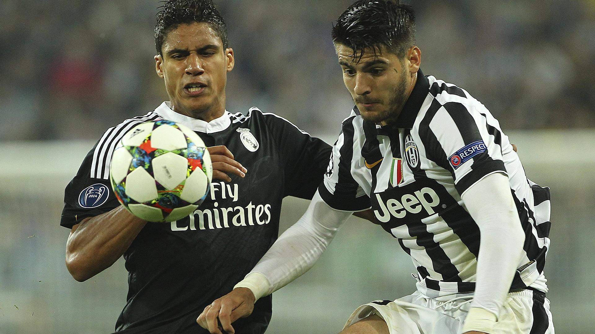 Raphael Varana Alvaro Morata Real Madrid Juventus Turin Champions League 05052015
