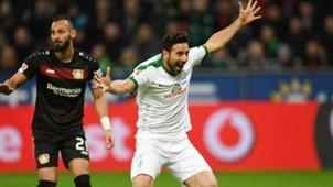 Ömer Toprak Claudio Pizarro Bayer Leverkusen Werder Bremen Bundesliga 10032017