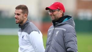 Jordan Henderson Jürgen Klopp FC Liverpool 12092015