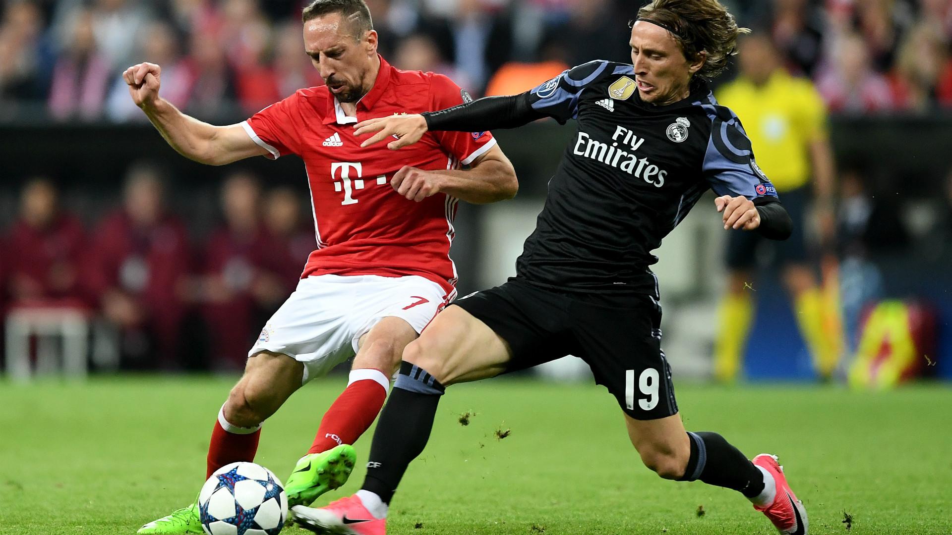 FRANCK RIBERY BAYERN MÜNCHEN LUKA MODRIC REAL MADRID UEFA CHAMPIONS LEAGUE 12042017
