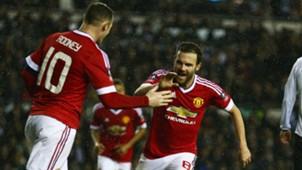Wayne Rooney Juan Mata Manchester United 01292016