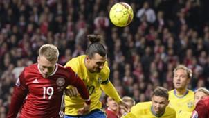 Zlatan Ibrahimovic Schweden Dänemark EM Qualifikation Play offs 17112015