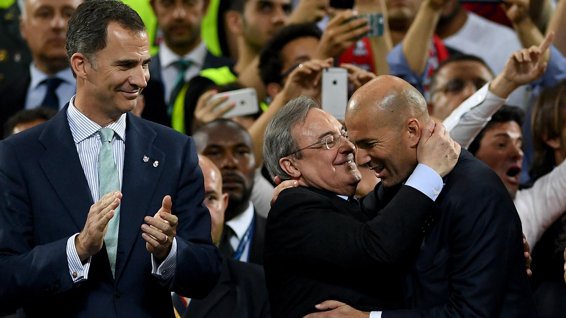 Florentino Perez Zinedine Zidane 28052016