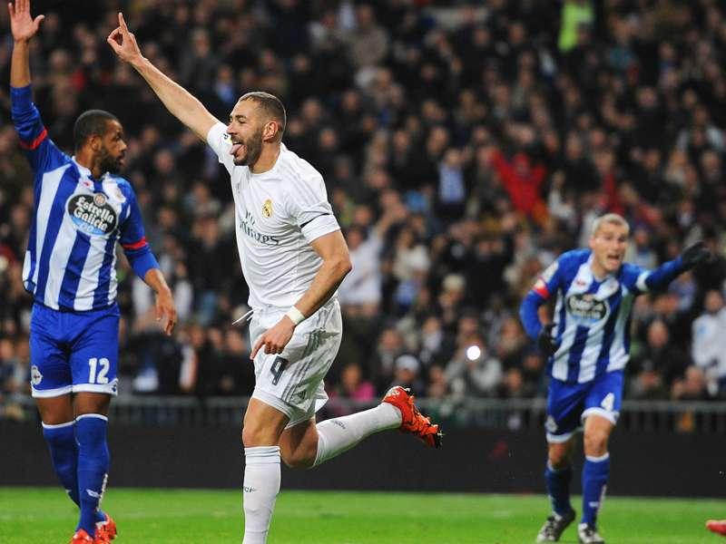 Benzema, 100 goles con Real Madrid