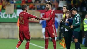 Sergio Ramos Gerard Piqué Spain