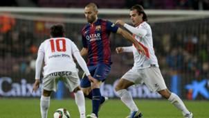 Javier Mascherano Esnaider Alex Bernal Barcelona Huesca Copa del Rey 12162014