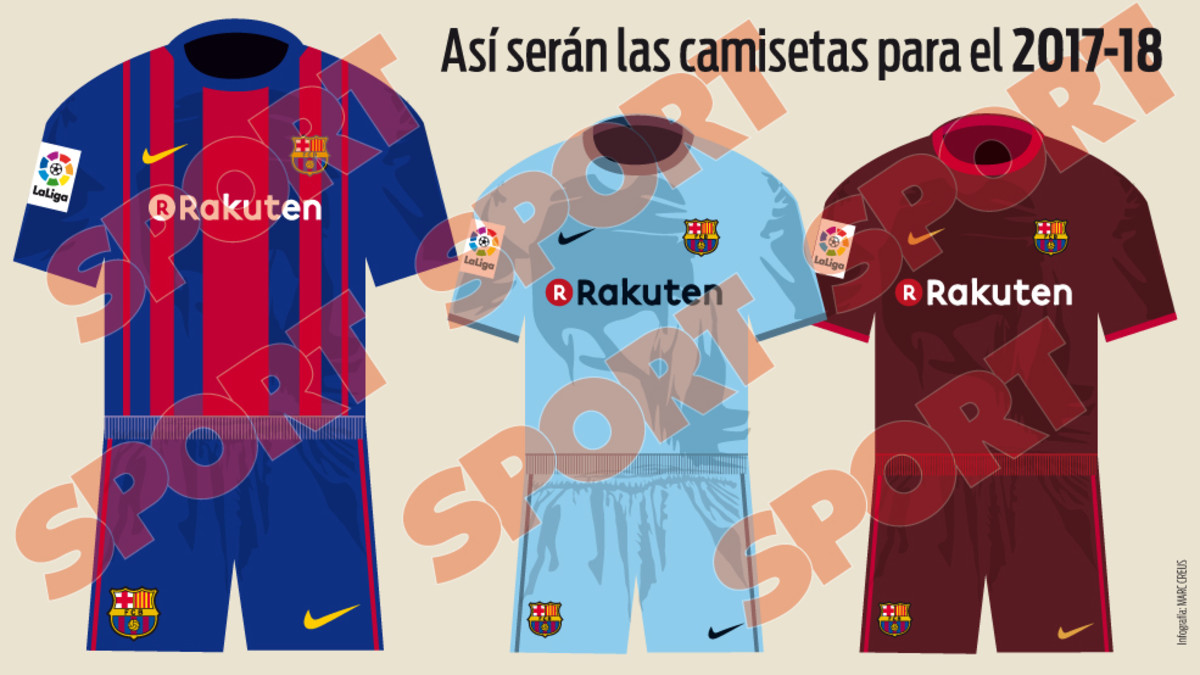 REVEALED  The Barcelona kits Messi and Neymar will be wearing in 2017-18 eebc85596605e