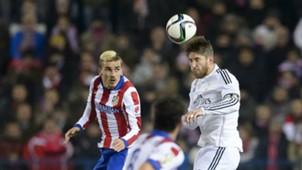 Antoine Griezmann Sergio Ramos Atletico Madrid Real Madrid Copa del Rey 01072014