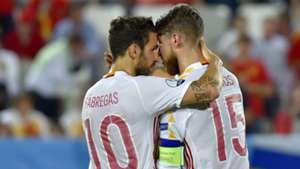 Sergio Ramos Cesc Fabregas Croatia Spain Euro 21062016