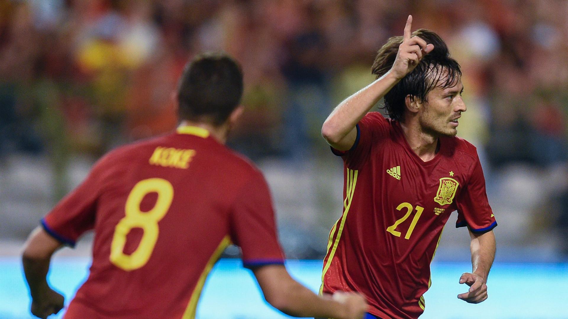 David Silva Koke Belgium Spain friendly 09012016