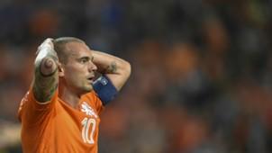 Wesley Sneijder Netherlands Euro Qualifier