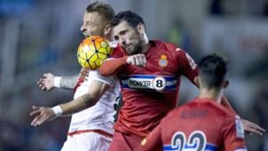 Patrick Ebert Anaitz Arbilla Rayo Vallecano Espanyol La Liga 23102015
