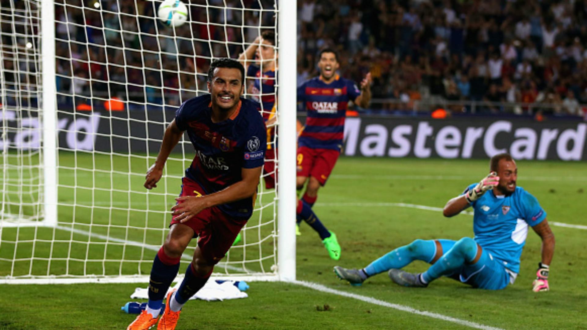 Pedro Rodriguez Barcelona Sevilla European Supercup