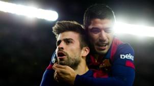 Gerard Pique Luis Suarez Barcelona Espanyol Liga BBVA 12072014