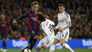 Barcelona Real Madrid La Liga Ivan Rakitic Luka Modric Toni Kroos 22032015